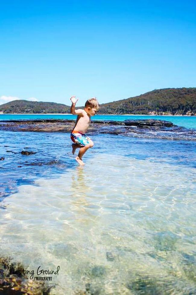 Child Vertical Sea Childhood One Person Clear Sky Beach Carefree Water Summer One Boy Only Cheerful Happiness Kids Adventure Outdoors Photograpghy  Outdoors Vacations Portrait Portraitphotographer