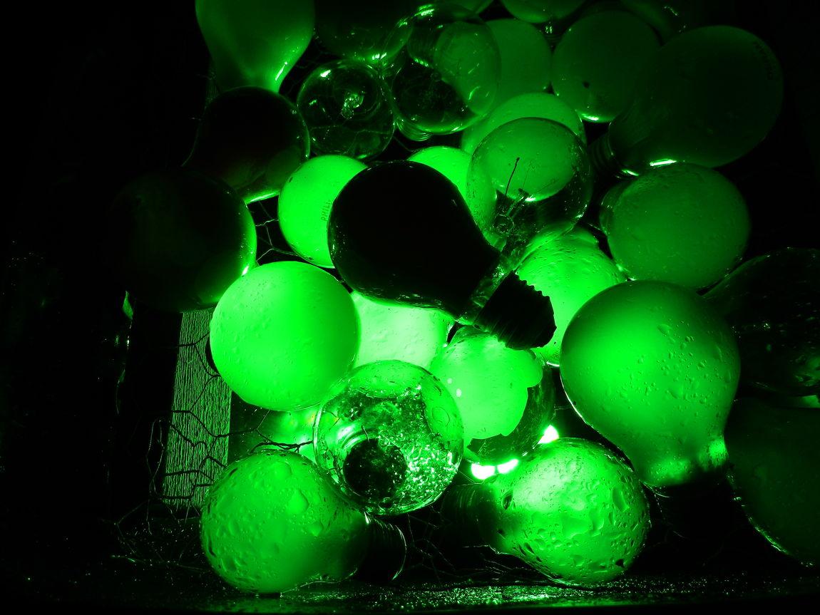 Green Color Light Bulbs Grugaparkessen Light Lightart Lightartphotography Parkleuchten The Week On EyeEm EyeEm Gallery No People Illuminated Light Art EyeEm Selects EyeEm Lights