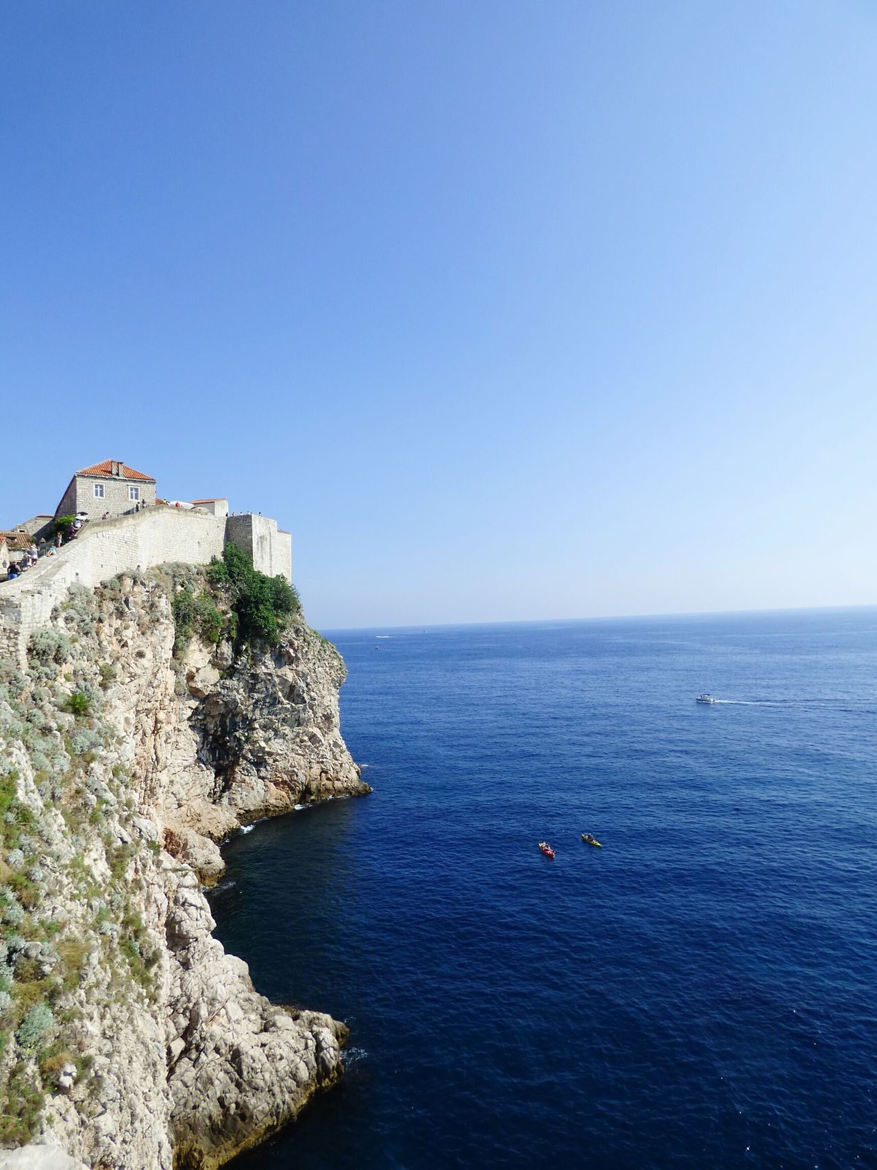 Croatia Clear Sky Blue Sea Architecture Water Dubrovnik, Croatia Ramparts