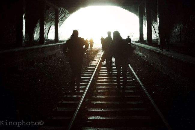 ParisBside Sunset Silhouettes Urbex Tunnel
