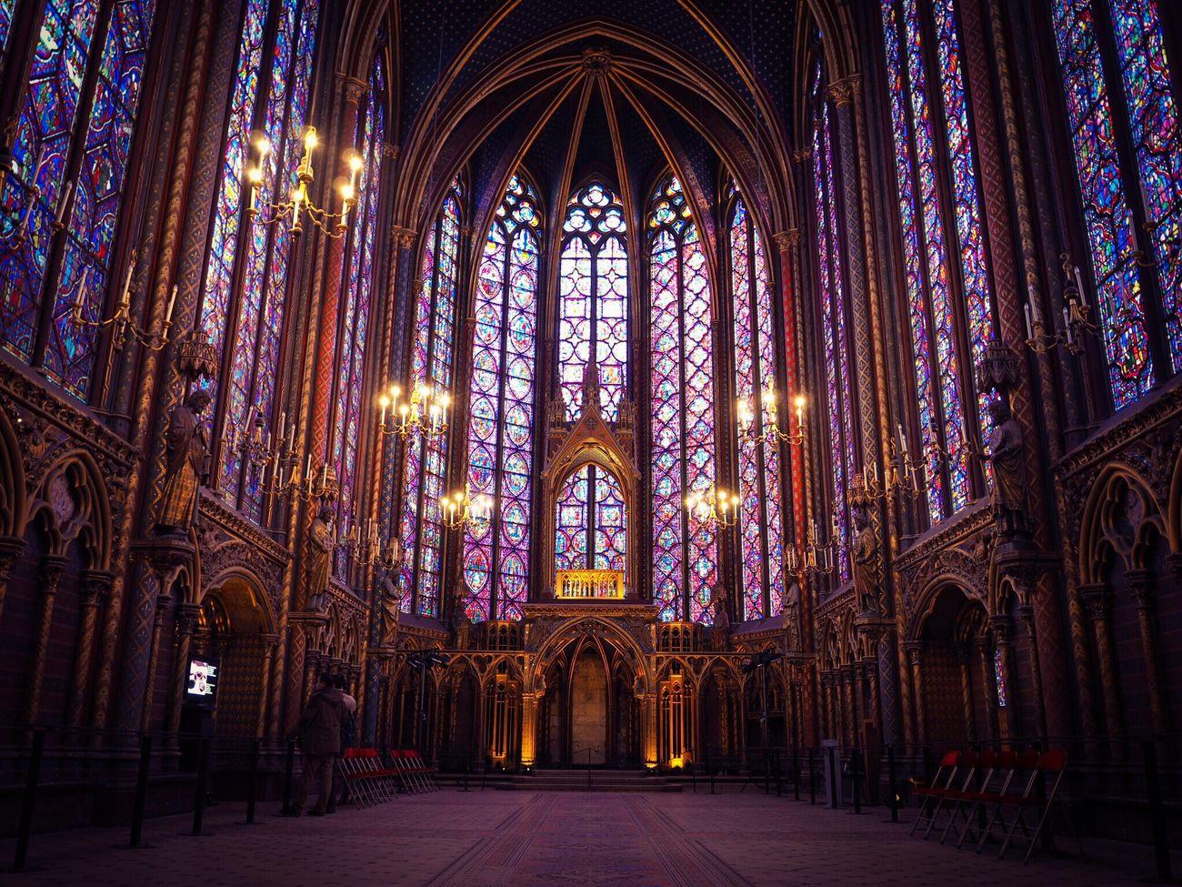 Sainte-Chapelle Sainte Chapelle Stained Glass Stained Glass Window Abbey Chapelle Paris