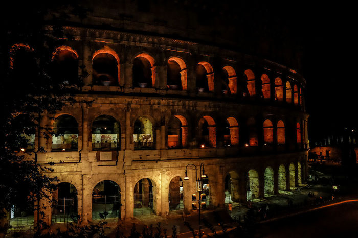 Nacht Ancient Ancient Civilization Arch Architecture Building Exterior Built Structure History Illuminated Italy Kolosseum Night No People Old Ruin Outdoors Rom | Italien Sky Travel Destinations