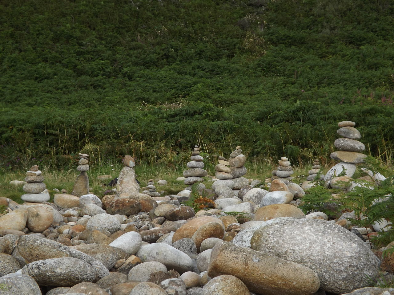 Beauty In Nature Day Green Isle Of Arran  Moment Nature No People Outdoors Pattern Relax Relaxing Scotland Stone Tower Stones Stones And Pebbles