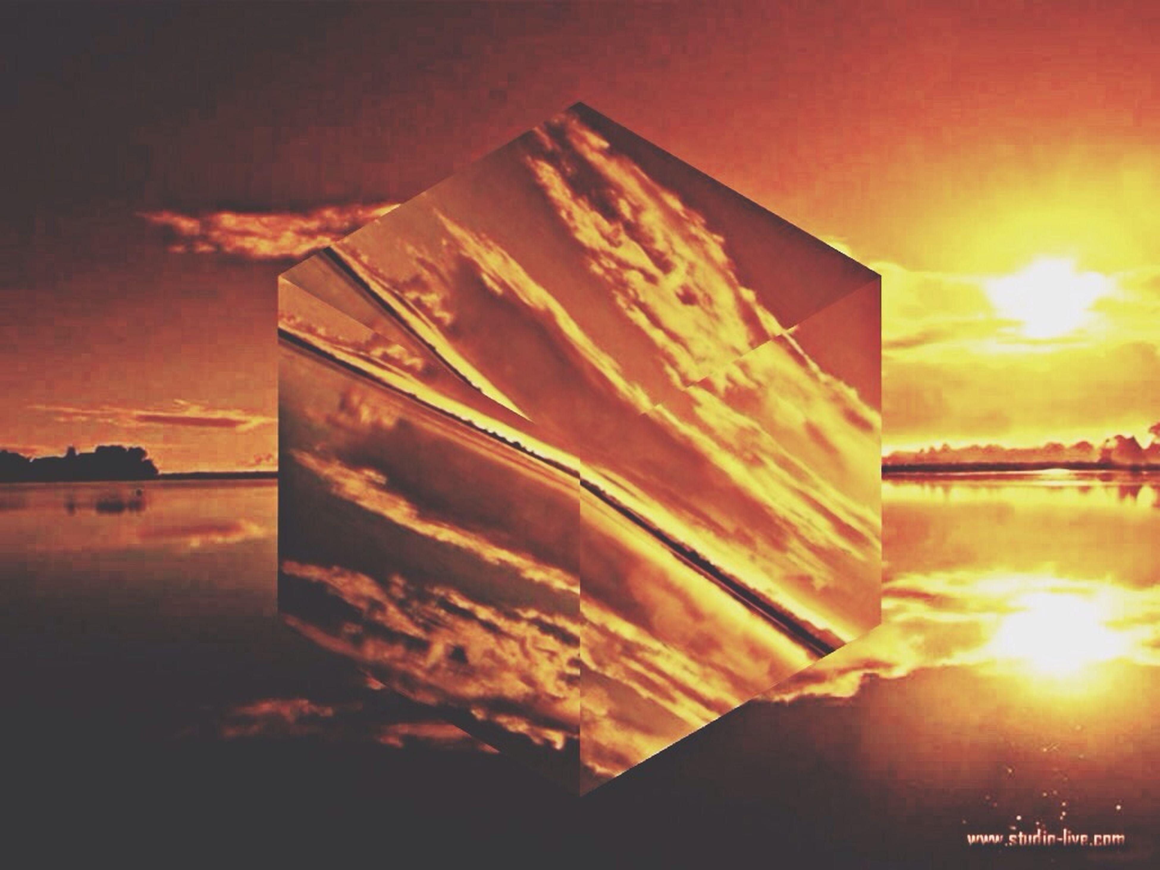 sunset, architecture, built structure, sun, water, building exterior, sky, reflection, sunbeam, sunlight, sea, waterfront, lens flare, orange color, outdoors, nature, no people, dusk, river, scenics