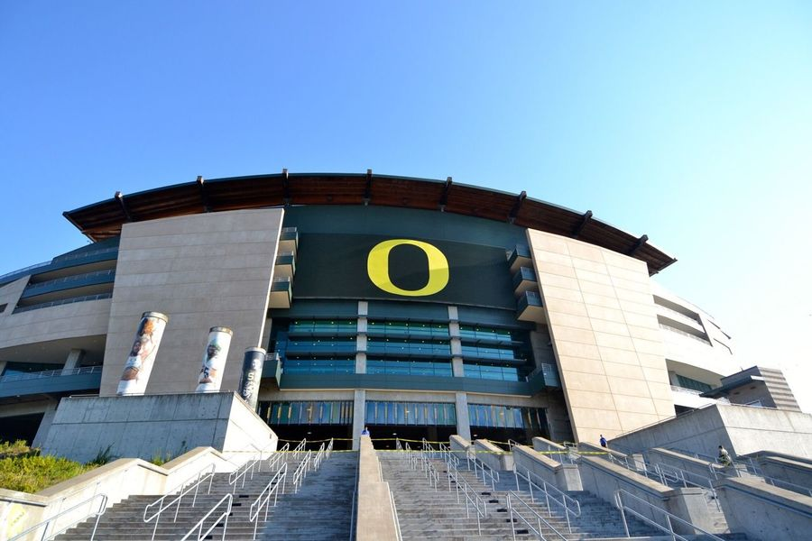Autzen Stadium - Eugene, OR Built Structure Architecture Building Exterior Clear Sky Low Angle View Outdoors No People Day Staircase Autzen Stadium University Of Oregon Oregon Ducks Eugene Oregon Oregon University College Football