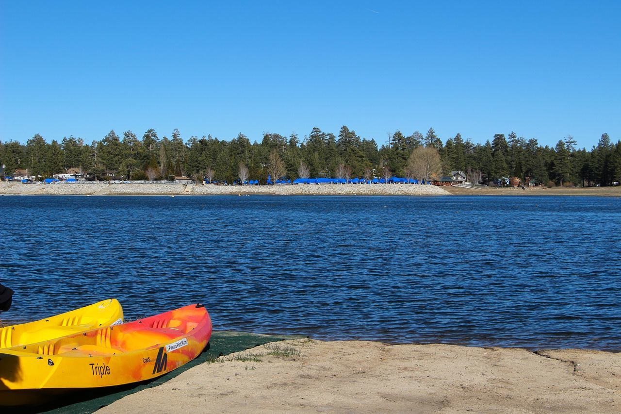Canoe Canoes Blue Water Clear Sky Nature Lake Lake View