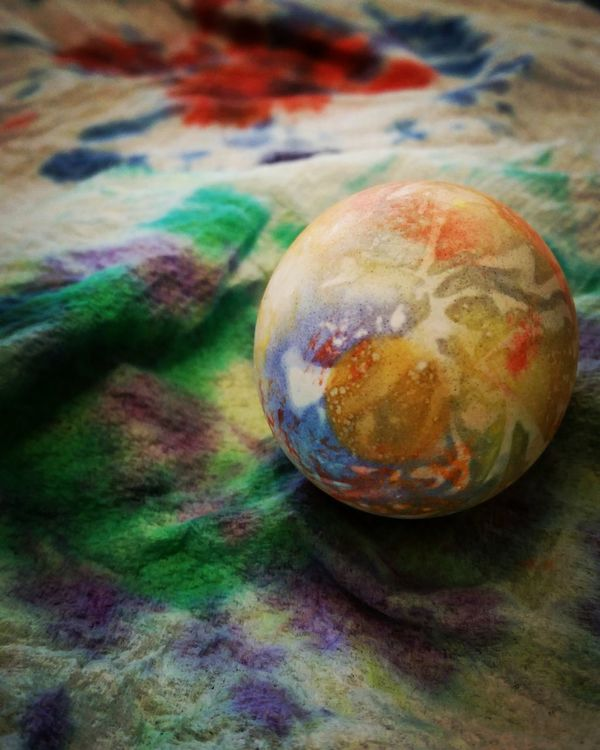 Happy Easter! I just love all the colors... Easter Eggs Tiny Canvas Tiedyed Tie Dying Foodart Eggs... DIY Create Colorful Easter Ready Taking Photos Easter Sunday