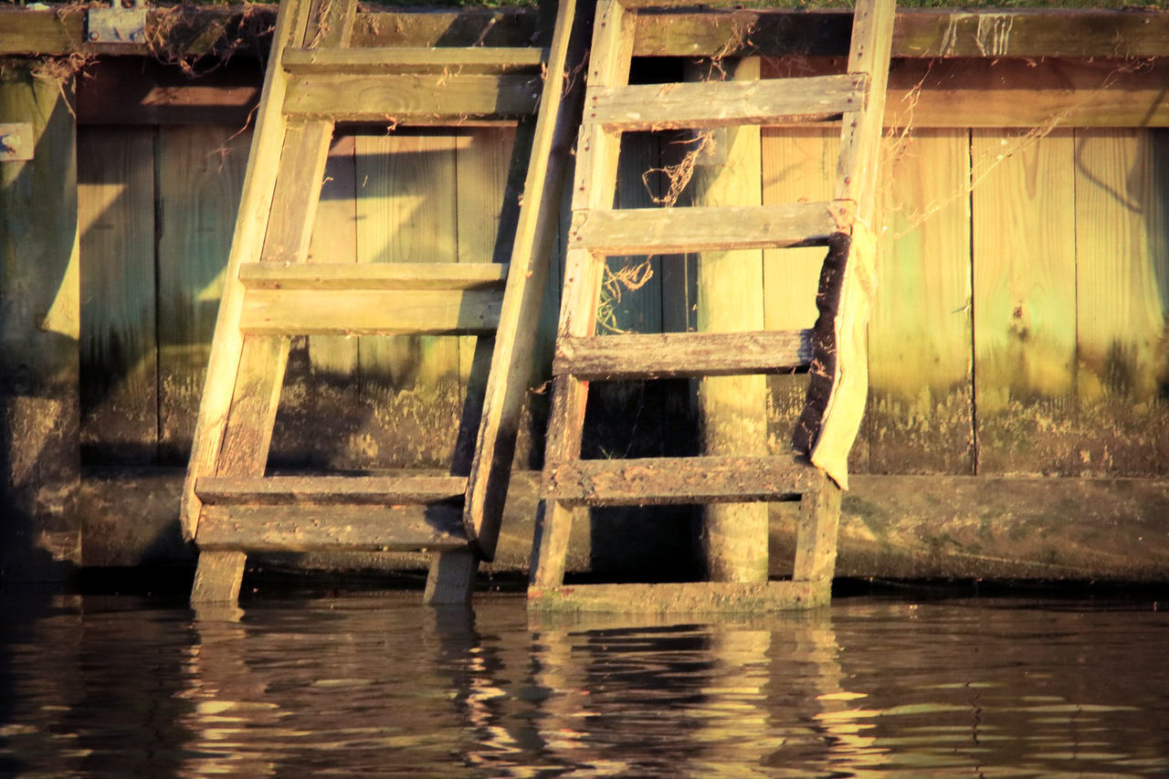 reflection, water, wood - material, no people, day, waterfront, outdoors, watermill
