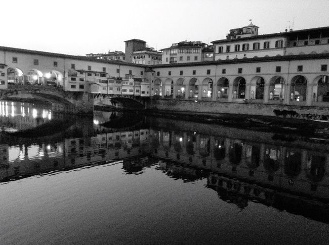 Urban Reflections River Mirror Black & White Old Town Arquitecture Urban Geometry