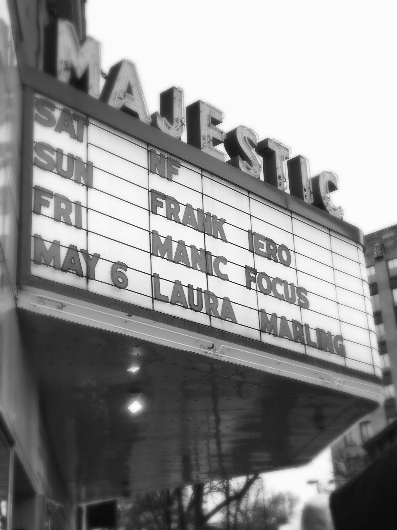 NF Concert Madison Majestic Blackandwhite