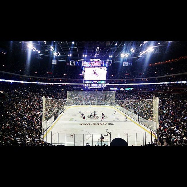 Blue Jackets game. (Another picture from the other night) Wearethe5thline Letsgojackets Cbj Bluejackets