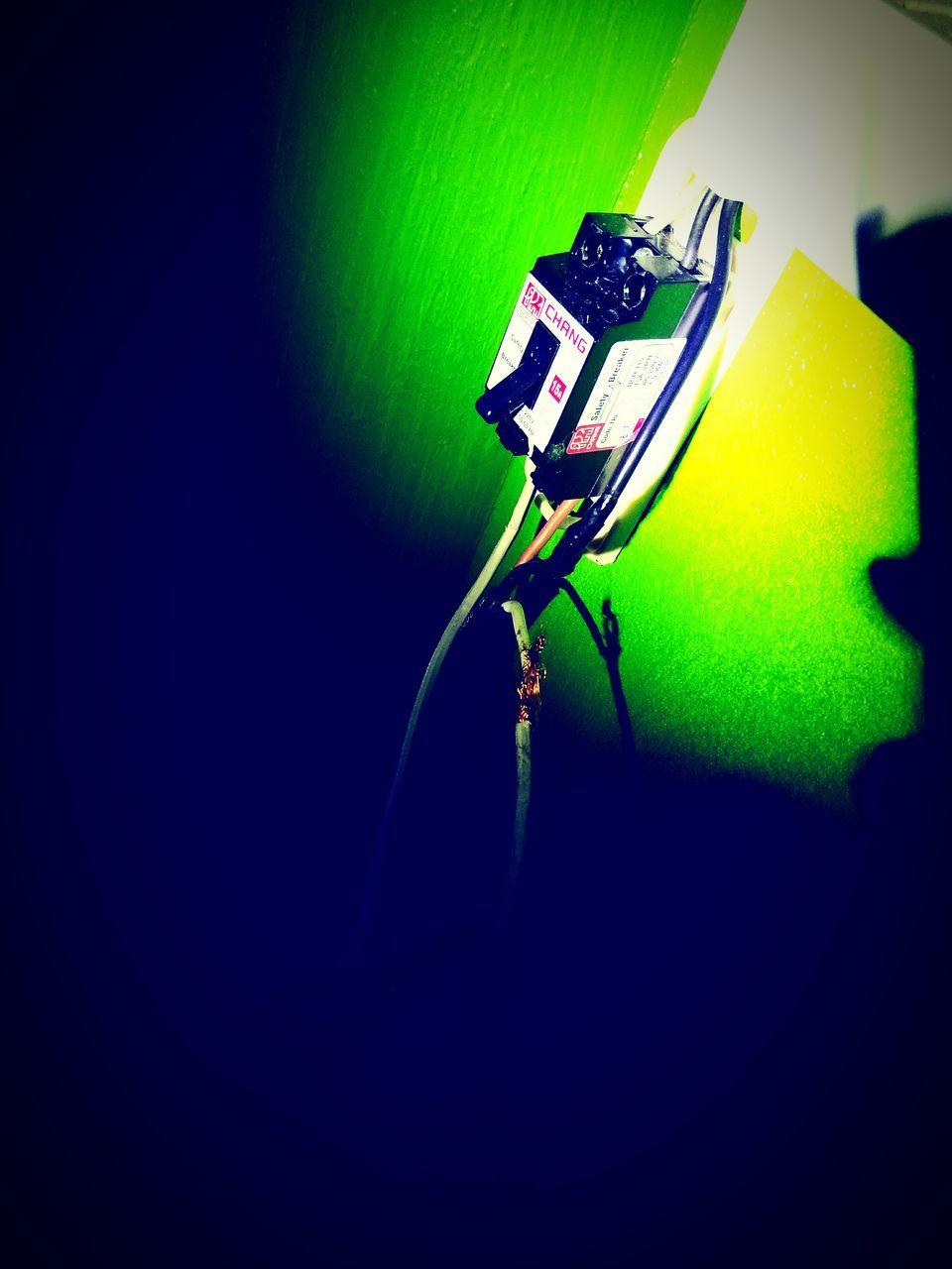 green color, indoors, music, no people, shadow, illuminated, spotlight, close-up, night