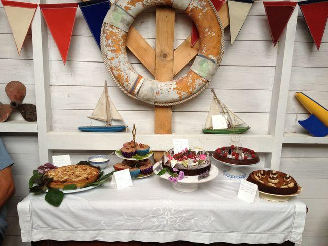 Regatta cake-off! Bosham, West Sussex Bake Bake Off Celebration Day Food Freshness Horizontal Indoors  Indulgence Nautical No People Plate Ready-to-eat Regatta Table