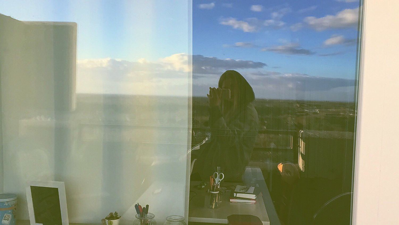 Balkony Sun View Sky Clouds Smoking Pott Missu