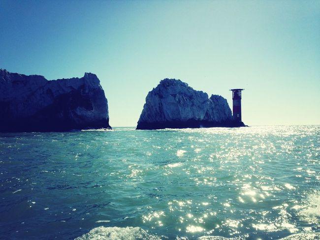 Sea Lighthouse Boat Island