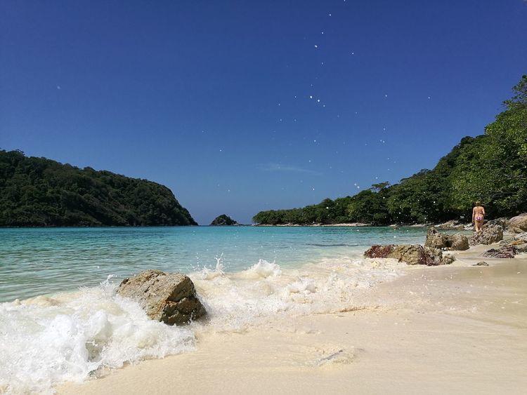 Rok Island Krabi Thailand Sea Sky Beauty In Nature Beach Nature No People Private Sand Tavel Beautiful Rayavadee Adventure