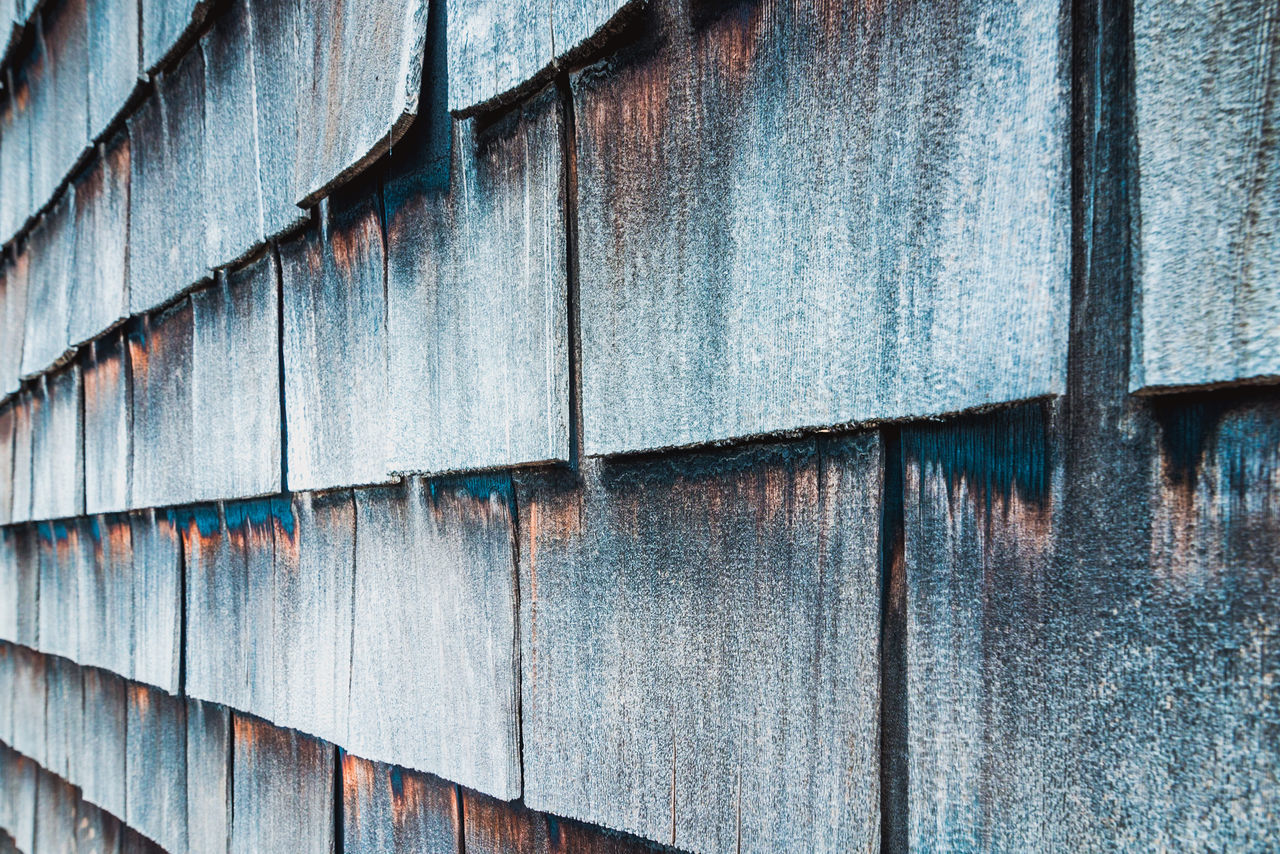 Architecture Backgrounds Building Exterior Built Structure Close-up Corrugated Iron Damaged Day Full Frame No People Outdoors Paint Pattern Shingles Texture Texture And Surfaces Textured  Wall - Building Feature
