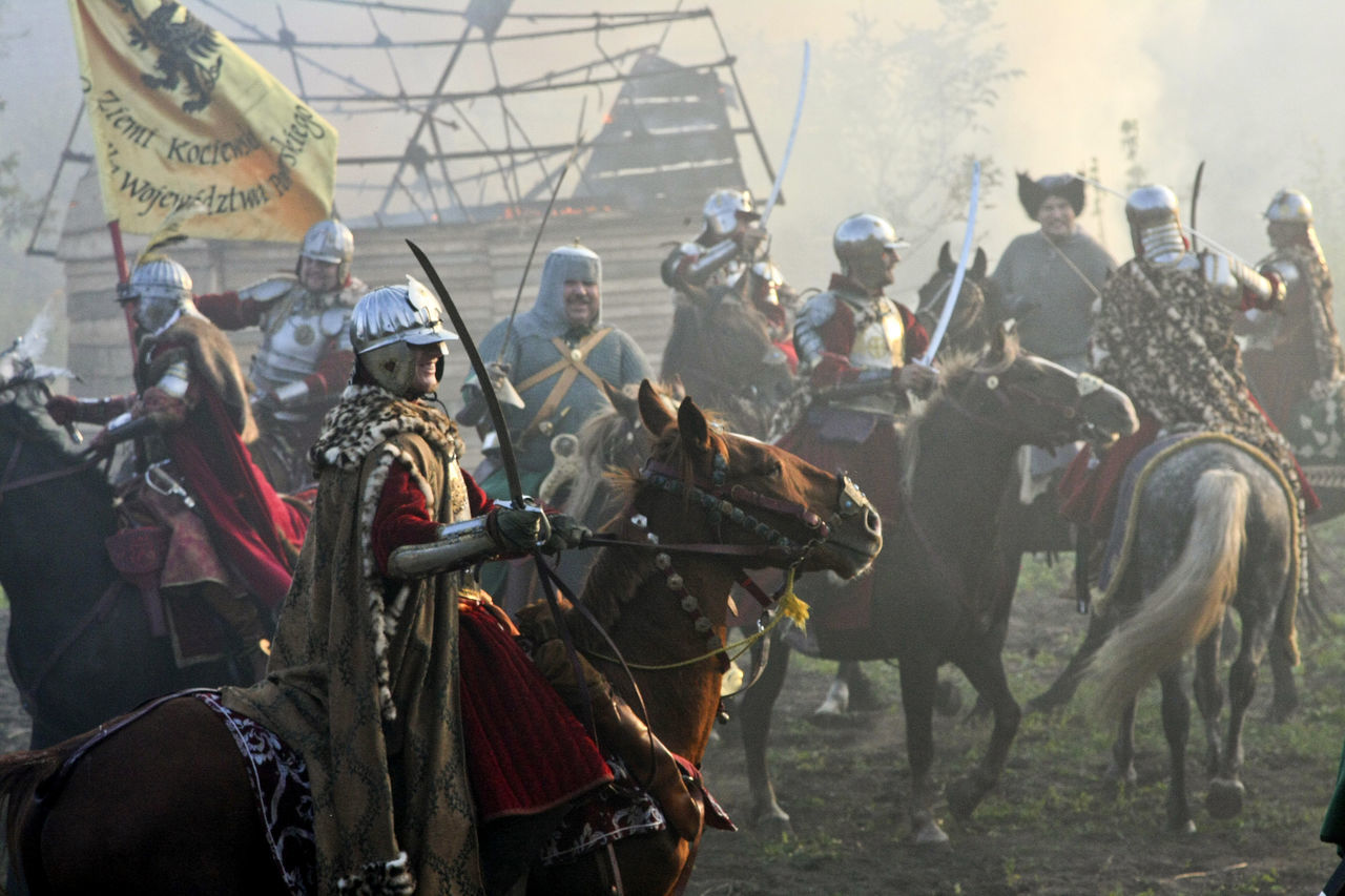 Battle Battlefield Cavalry Cavalry Battle Historical Reconstruction History Horse Horseback Riding Leisure Activity Old Weapon Old Weapons Outdoors People Real People Reconstruction Group Soldiers Ukraine Vintage XVII Century