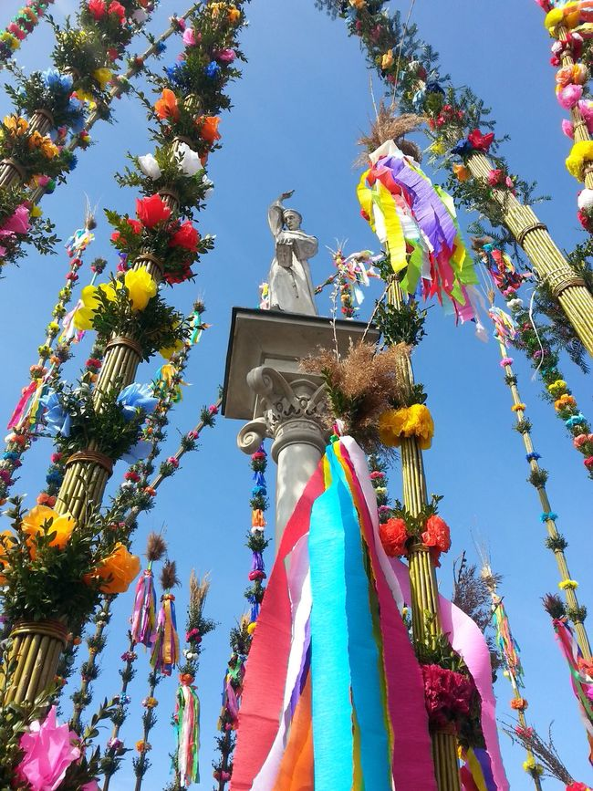 Palm Sunday Blue Sky Easter Easter Palms Lipnica Murowana Multicolor Saint Saint Petersburg Saint Simon Of Lipnica Tissue-paper