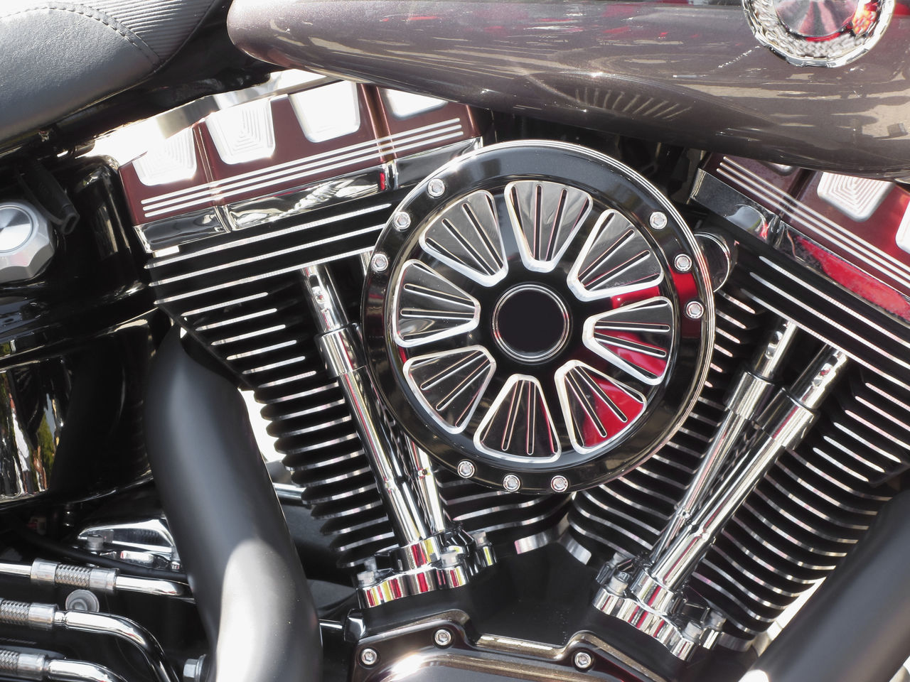 Motorcycle chromed engine closeup detail background Acceleration Bike Carburetor Chopper Chrome Combustion Crotch Cylinder Detail Engine Horsepower Mechanics Mechanism Motor Motorbike Motorcycle Polished Power Radiator Reflection Shine Steel TORQUE Transport Vehicle