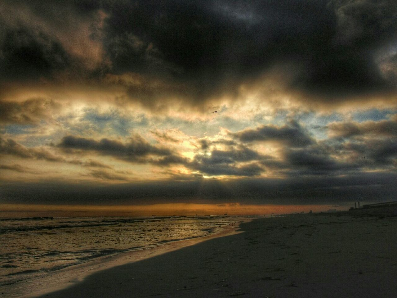 sea, sunset, beach, scenics, beauty in nature, nature, tranquility, tranquil scene, sky, cloud - sky, dramatic sky, horizon over water, water, outdoors, no people, sand, storm cloud, day