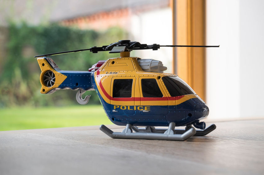 Child's toy helicopter Child's Toy Children's Toys Flying Helicopter Kid's Toys No People Police Helicopter Toy Toys Transportation