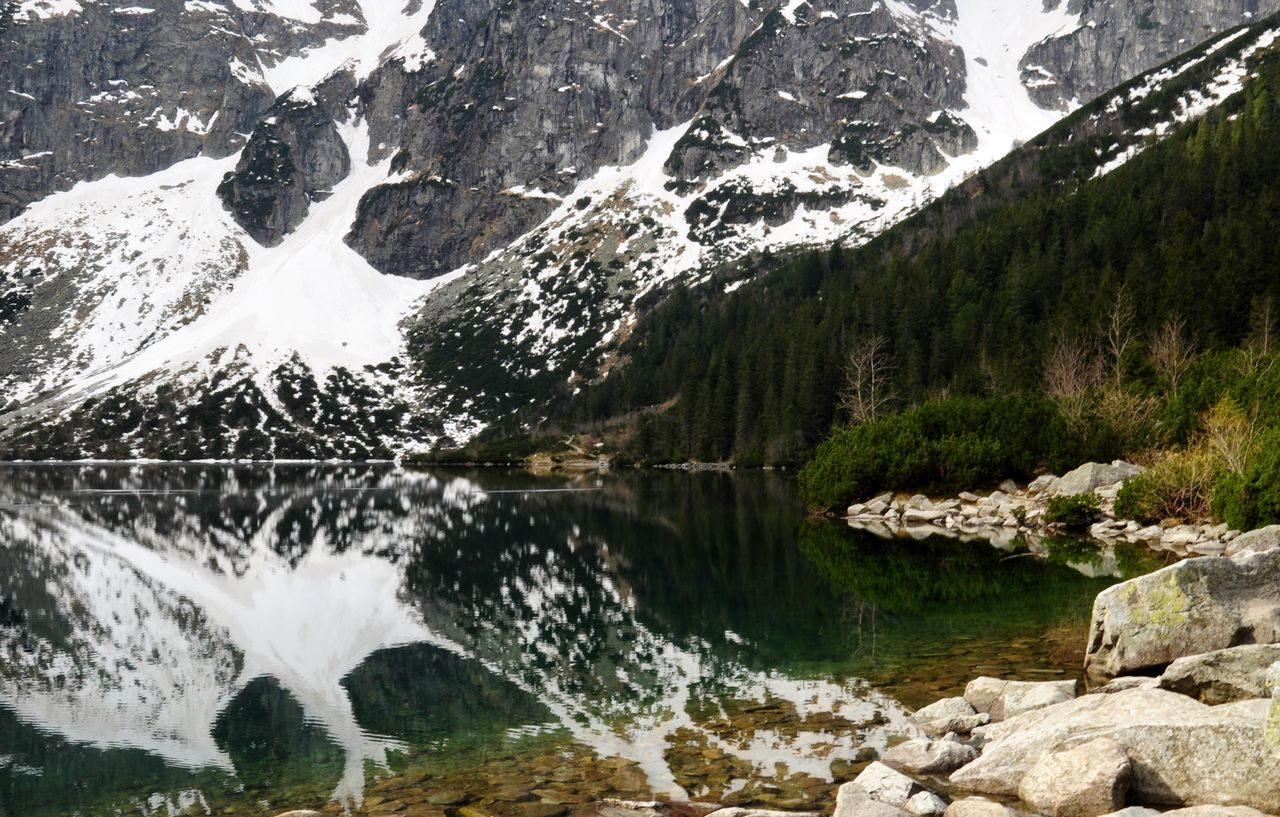 Morale old lake view in Poland Nature Mountain Outdoors Lake Landscape Scenics Beauty In Nature Day Water Travel Poland Morskieoko Travel Destinations Tranquility Beauty In Nature Reflection Forest Wood