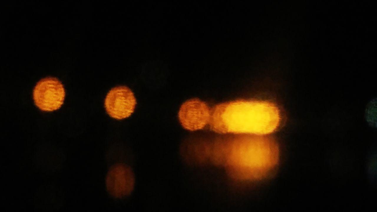 night, illuminated, no people, defocused, outdoors, close-up