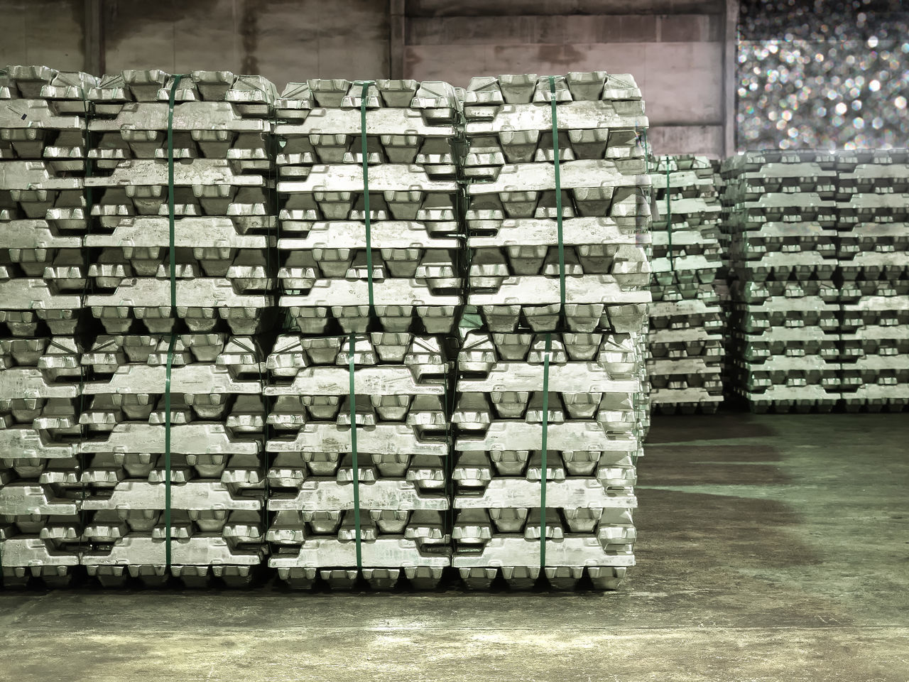 Stacking of aluminium ingot in warehouse Stack Large Group Of Objects No People Abundance Day Indoors  Consumerism Warehouse aluminium Ingot Import Export storage Architecture Equipment Trade Close-up Handling Zinc Cargo Container Harbor Shipping Logistics Mode Of Transport Silver  Steel Expensive industry Factory Automotive structure