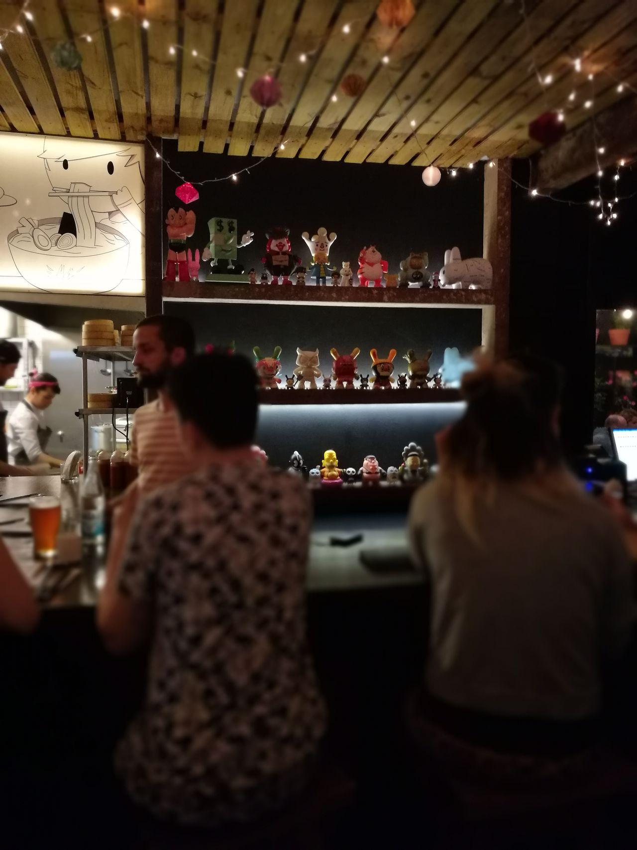 Bar Counter Indoors  Illuminated Bar - Drink Establishment People Ramen Restaurant Ramennoodles Asianfood Ramentime🍜 City Night Bar Peter Griffin Dolls