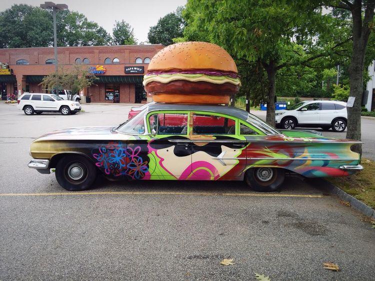 Car Cars Vintage Cars Classic Cars Burgers Burger Hamburger Grafitti Classic Car