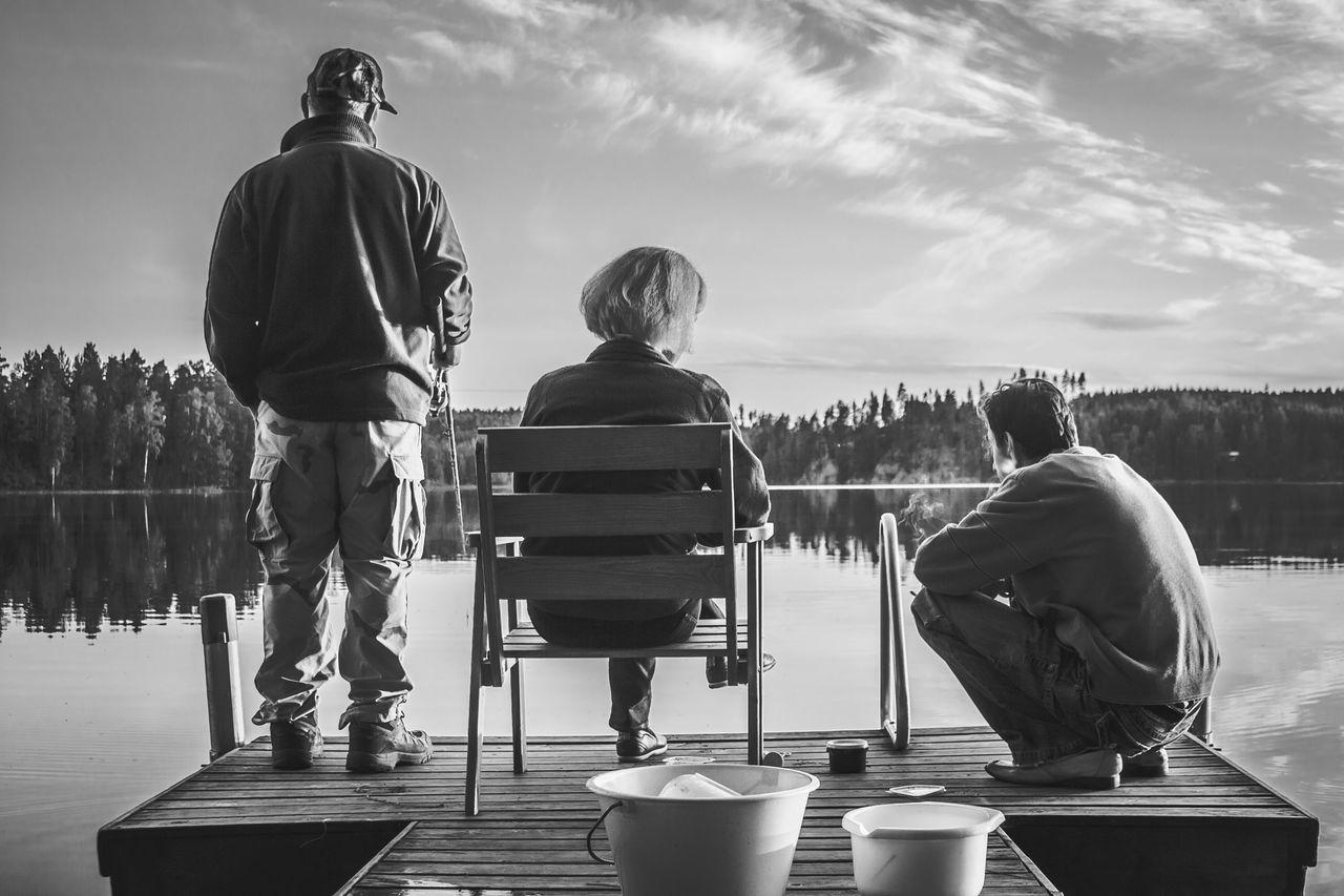 Beautiful stock photos of fishing, Crouching, Day, Finland, Fishing