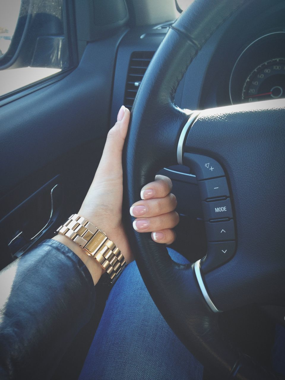 vehicle interior, car, car interior, transportation, steering wheel, land vehicle, mode of transport, dashboard, human hand, driving, sitting, travel, human body part, real people, day, men, togetherness, speedometer, seat, outdoors, close-up, people