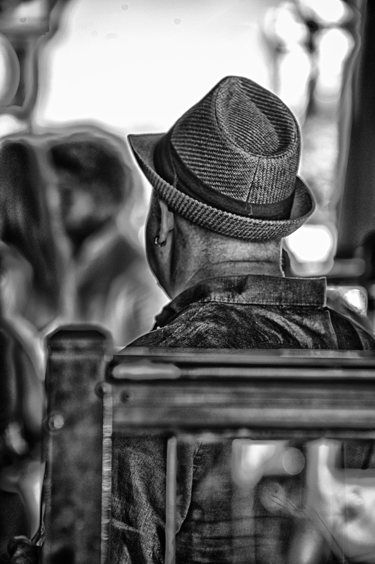 Hat Close-up Outdoors Day Melbourne Taking Photos Victoria Quick Shot Real People Blackandwhite Man No Face Black And White HDR Real People, Real Lives