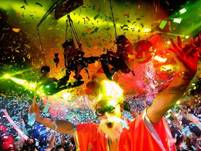 Music Brings Us Together Ibiza Spaceibiza Confetti Handsup  Elrow Partying Till Sunrise Overthetop Music Dancers Ravers  Crowd Celebration Glowing First Eyeem Photo Peopleflyingtogether Festival Show