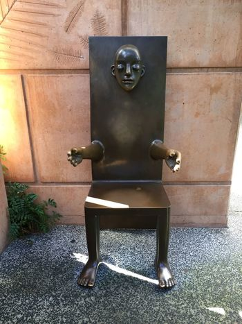 Take A Seat Sculpture Chair Bronze Mt Coot-tha Brisbane
