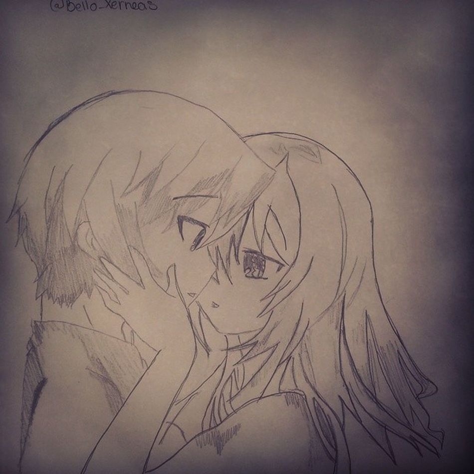 When I saw you I fell in love, and you smiled because you knew ? Love Fanart Animesweet Loveatfirstsight manga change crush sketch longlastinglove youaremyfirstandmylast