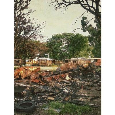 Abandoned trailer park Flint Abandon 810 Slums murdermitten