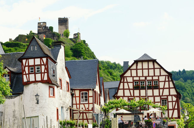 Cityscape of Beilstein at Moselle River (Germany) in summer. Architecture Beilstein Beilstein Mosel Building Exterior Built Structure City City Life Half-timbered Half-timbered House Half-timbered Houses Mosel Mosel River Mosel River In Germany Moselle Moseltal Rhineland-palatinate Timbered House Tower