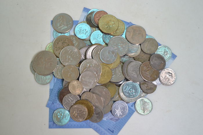 Close-up Coin Currency Day Finance High Angle View Illustrative Editorial Indoors  Large Group Of Objects Money No People Paper Currency Savings Still Life Wealth