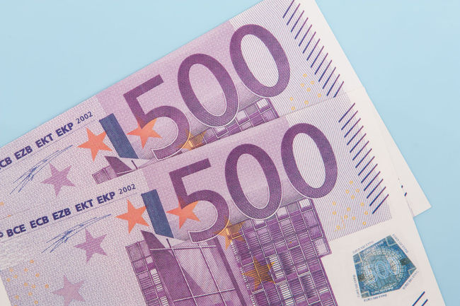 Various euro notes on light blue background 1000 Euro Accounting Banking Credit Currency Debit Debt Euro Crisis Euro Notes Euro Zone Financial Financial Planning Financial Service Income Money Money Money Money Mortgage Pocket Money Spending Money