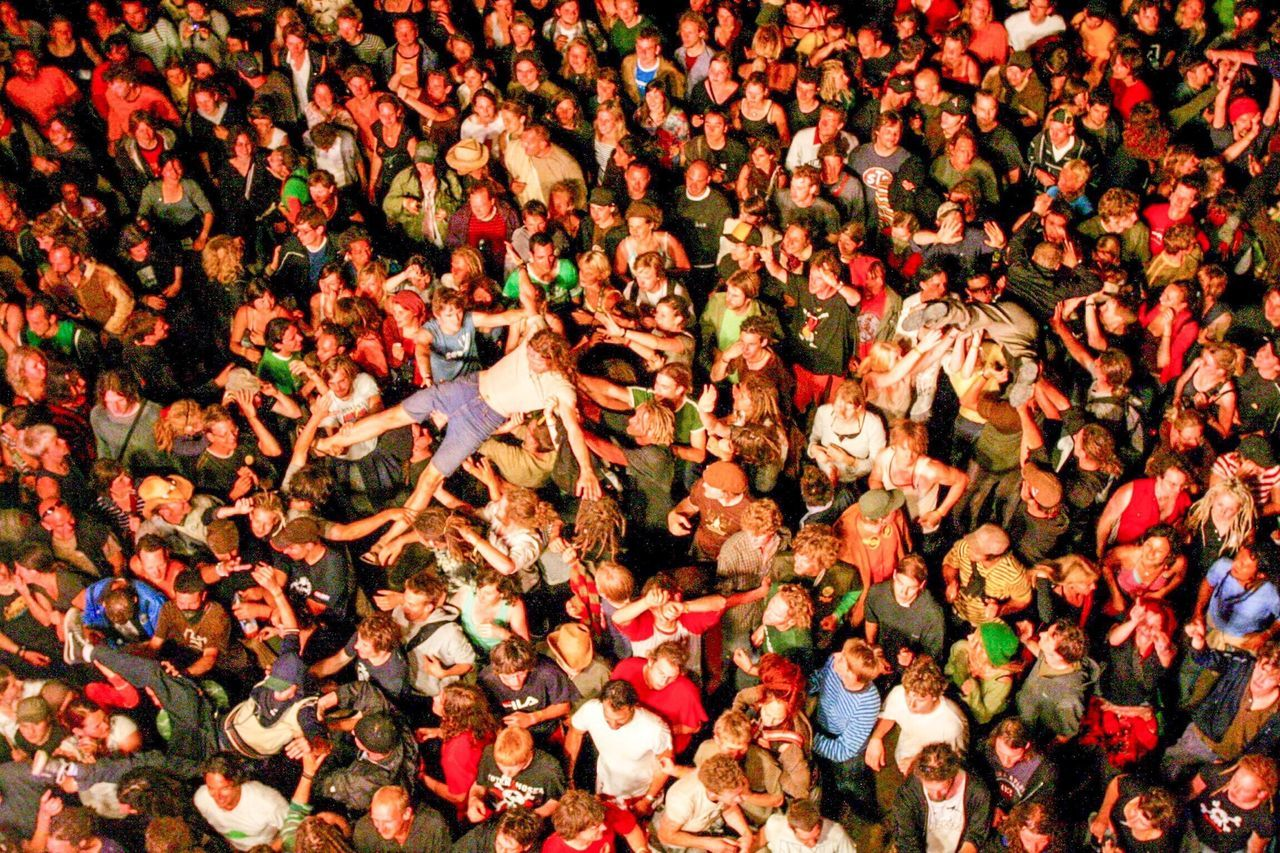 Beautiful stock photos of community, Arms Raised, Carrying, Crowd Surfing, Day