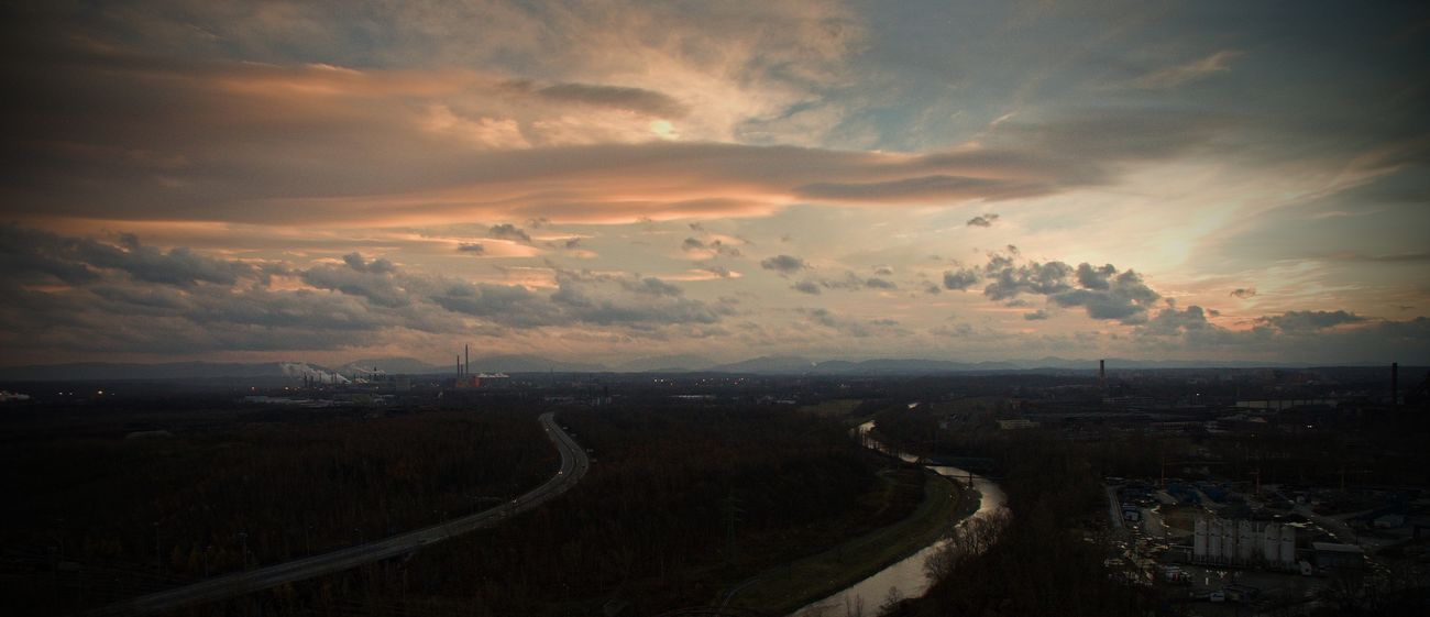 Aerial View Beauty In Nature City Cityscape Cloud - Sky Czech Republic Drone  Dronephotography Nature Night No People Ostrava Outdoors Phantom 3 Sky Sunset Transportation