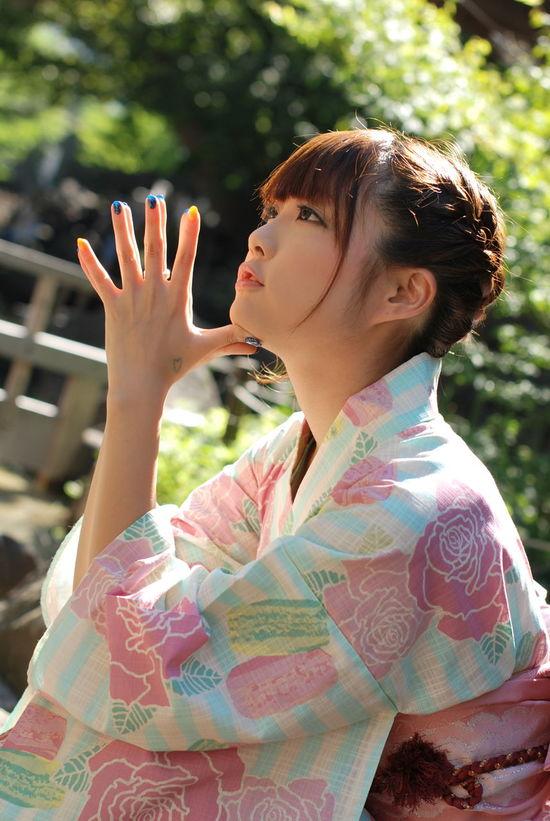 洋柄の浴衣。わりと好き。Model:りんすPortrait Cute Girl Kimono