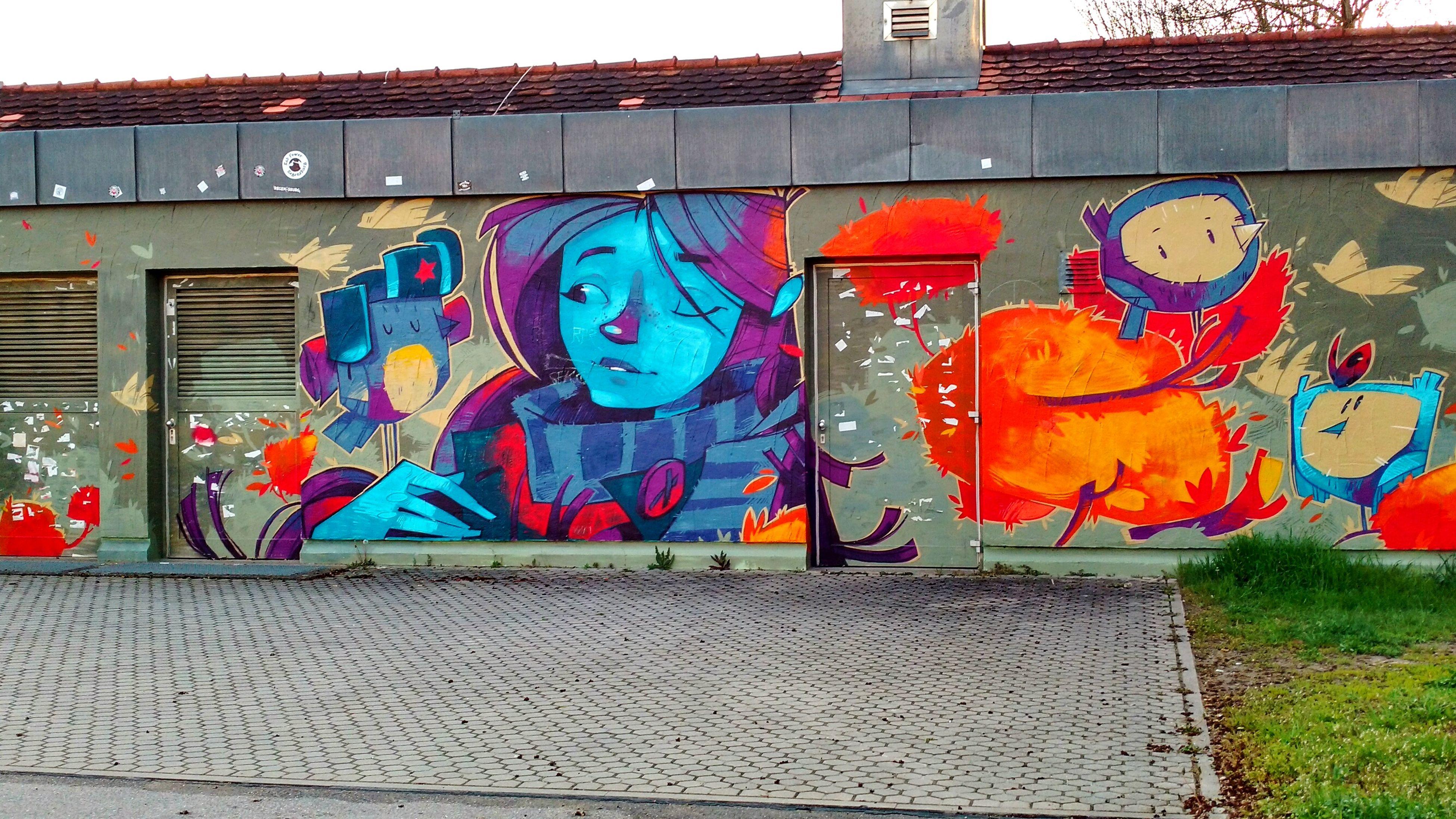 graffiti, multi colored, street art, art and craft, creativity, outdoors, day, spray paint, no people, city