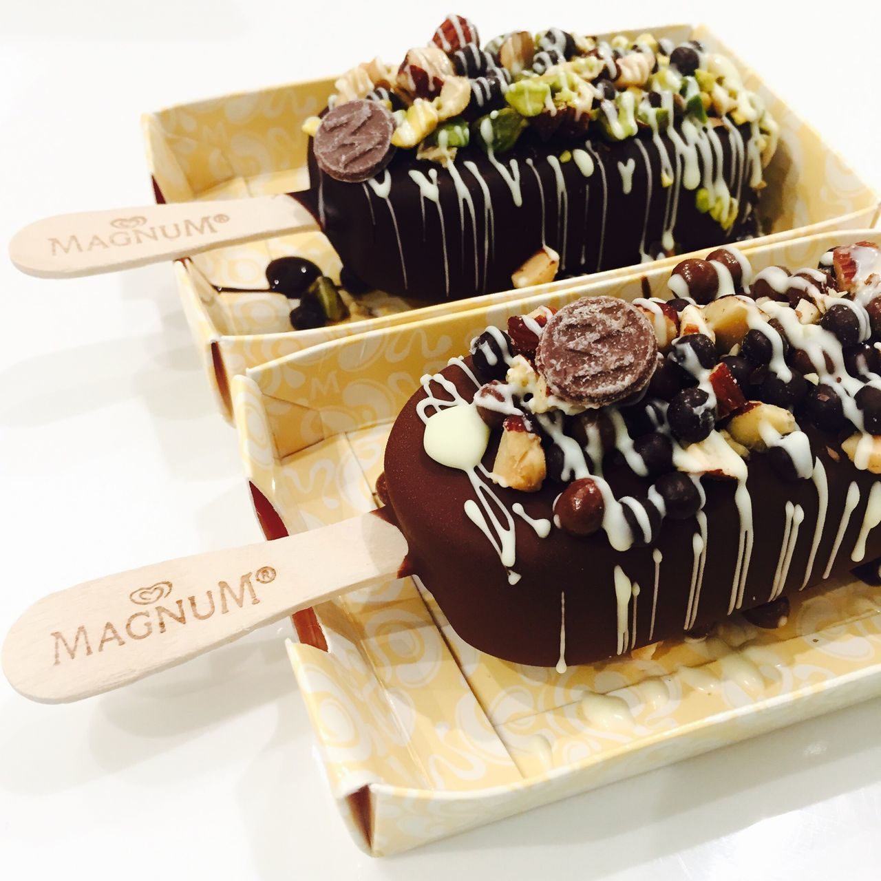Nofilter Noedit Sweet Food Dessert Food Temptation White Background Close-up Ready-to-eat Philippines Magnum MagnumAlmonds Sweets 2016 Magnumcebu Cebu Makeyourown Creative Temptation Icecream Yummy