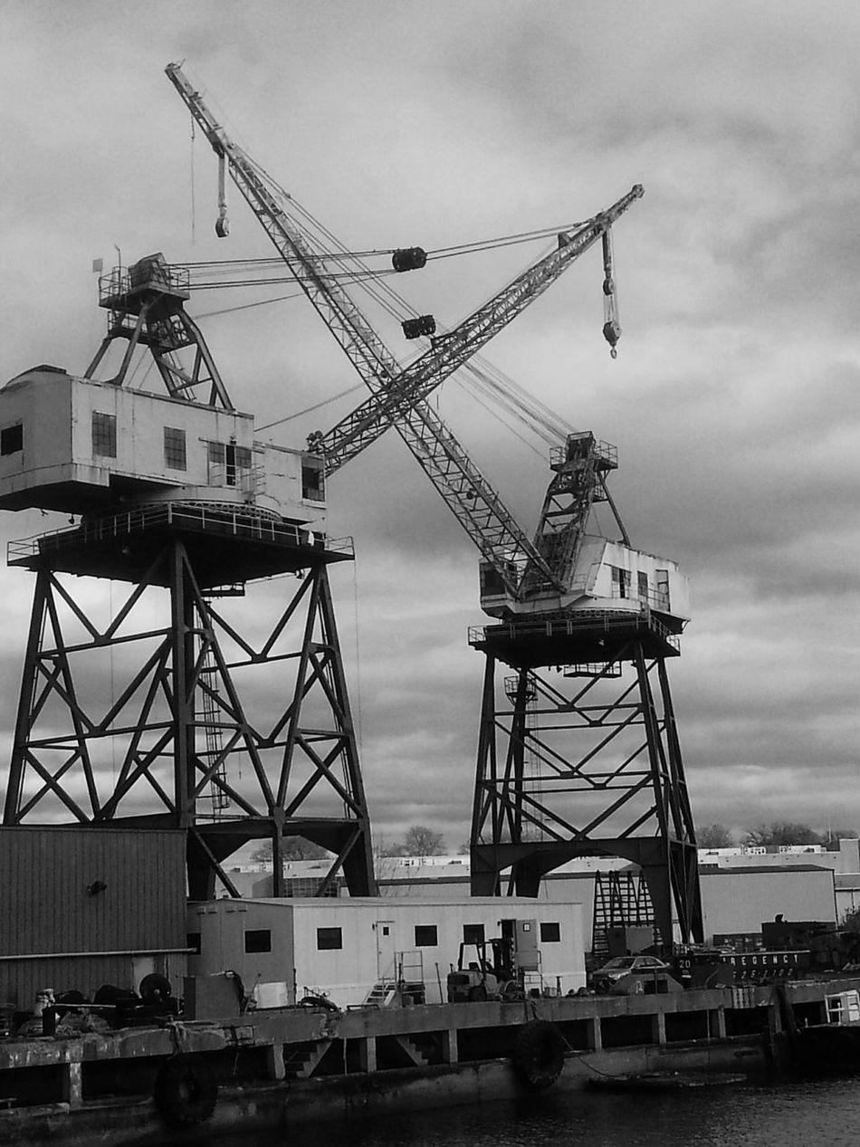 Brooklyn Navy Yard Taking Photos Williamsburg Bridge B&w