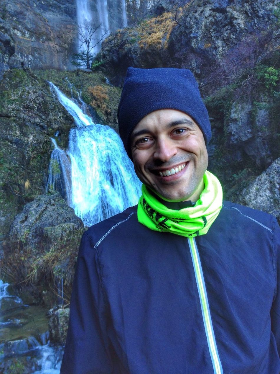 Mountain time Looking At Camera Portrait Smiling Front View Lifestyles One Person Real People Happiness Warm Clothing Cheerful Trekking Sport Leisure Activity Mountains Waterfall River Riverside Mountaineering Sportwear