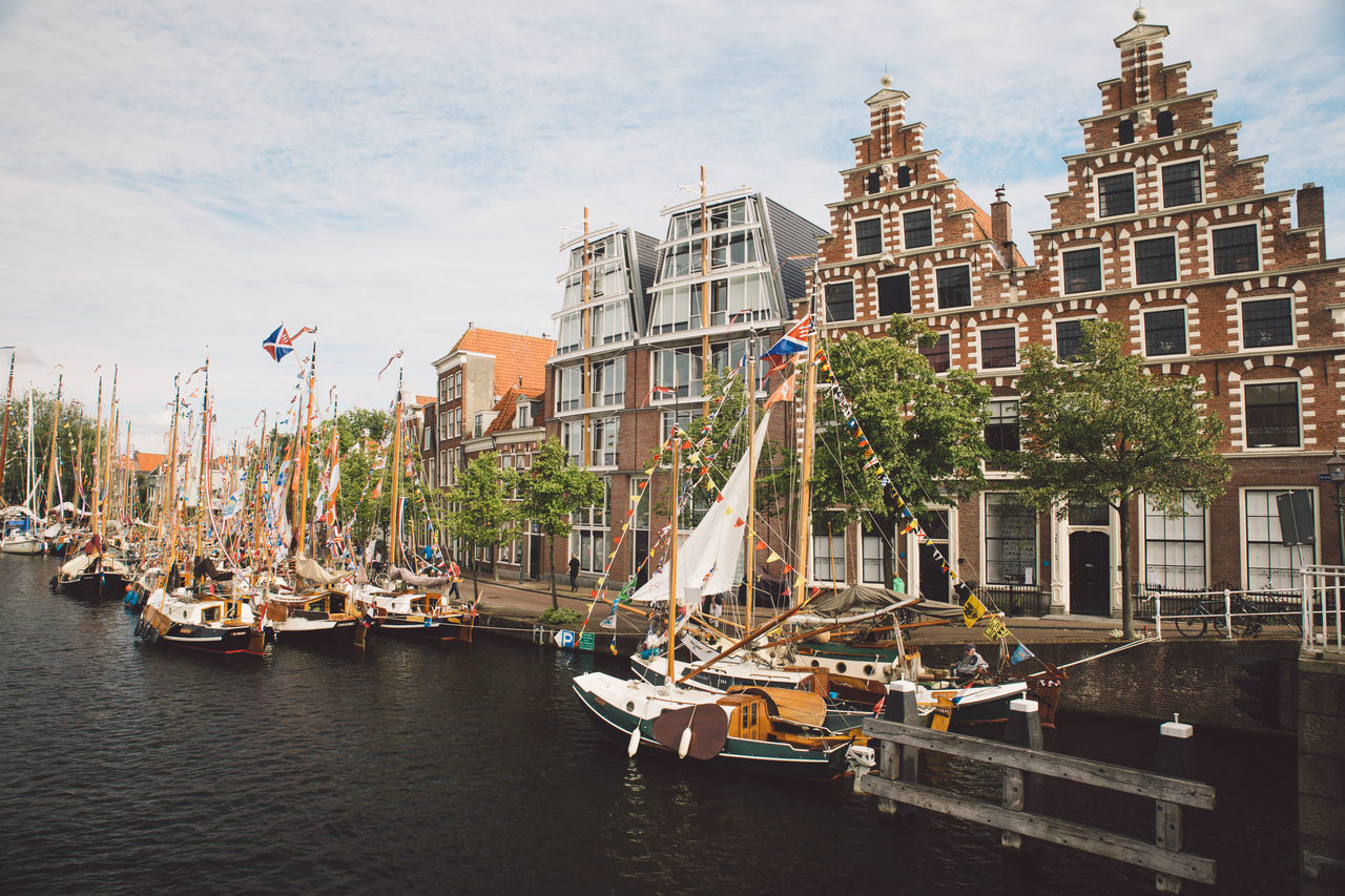 Architecture Haarlem Haarlemse Haarlemse Vaardagen 2017 Architecture Boats Building Exterior Built Structure Canal City Cruise Day Dutch Flag Mast Nature Nautical Vessel No People Outdoors River Ships Sky Spaarne Tree Vaardagen Water