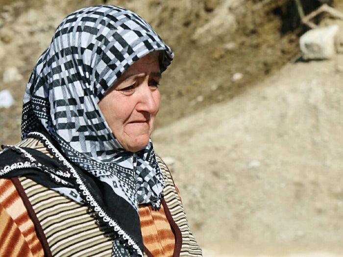 Syrian Turkmens take refuge in Turkey through Hatay  Border. Woman Old Farewell Syria  Crisis